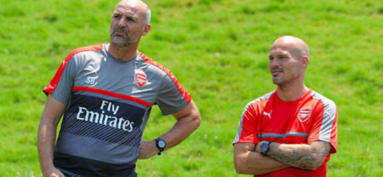 Bould (left) goes back to the Academy
