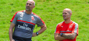 Ljungberg and Bould switch roles at Arsenal