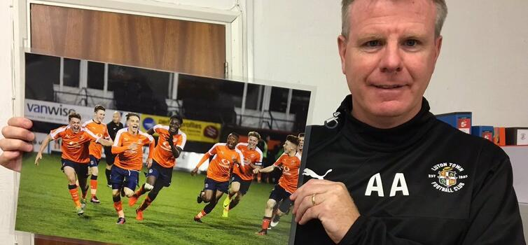 Luton's Academy & Development manager Andy Awford