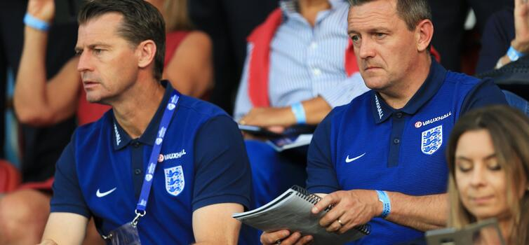 Colin Cooper (left) had been Aidy Boothroyd's assistant with the U21s for two years