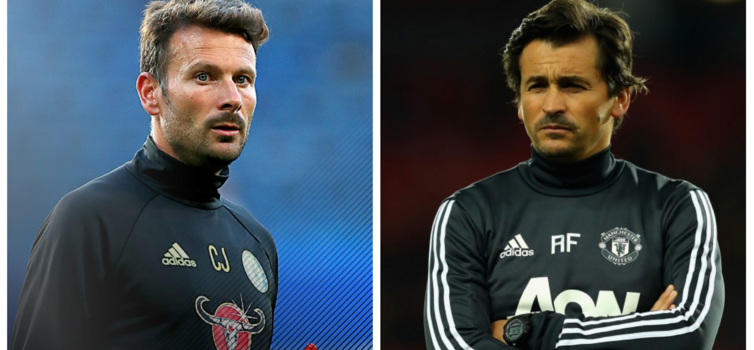 Chris Jone (left) exited Chelsea after 12 years, while Rui Faria stepped down as Man Utd assistant