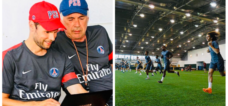 The late Nick Broad (left) was Performance Manager at PSG