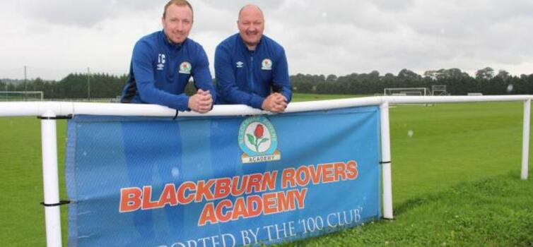 Carss (left) signed his first pro contract with Blackburn