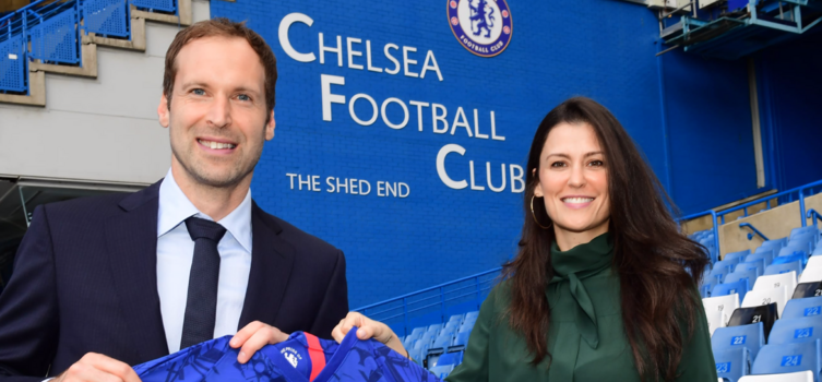 Petr Cech with Director Marina Granovskaia