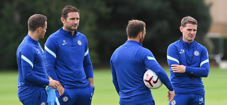 Left to right:  Joe Edwards, Frank Lampard, Jody Morris and Anthony Barry
