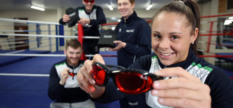 Northern Ireland athletes wore SleepSpecs at the Commonwealth Games