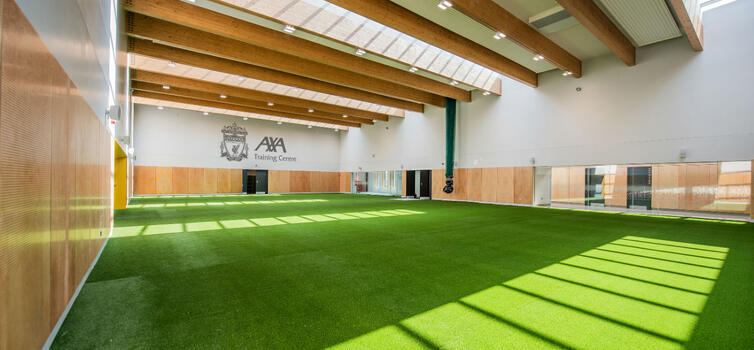 The centre has a full size sports hall