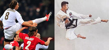 How Zlatan and Man Utd use taekwondo