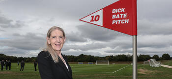 FA dedicates St George's Park pitch to Dick Bate