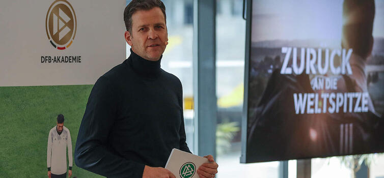 Bierhoff led a 'Back to the Top of the World' event