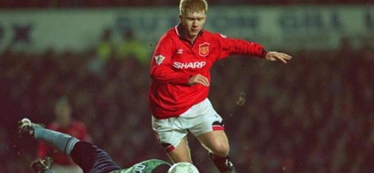 Paul Scholes scored both goals for United on his debut