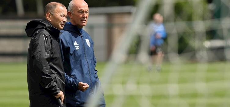 Jones watched training with Pulis before the duo had lunch together
