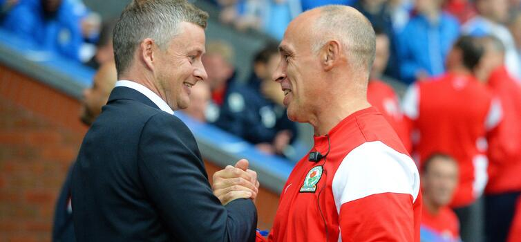 Fevre was reunited with Solskjaer when Cardiff took on Blackburn
