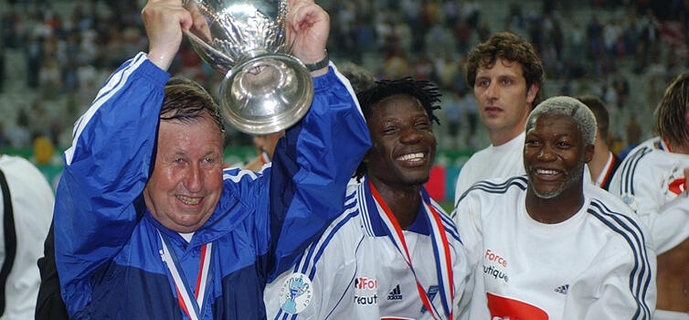 Guy Roux won the double with Auxerre in 1996