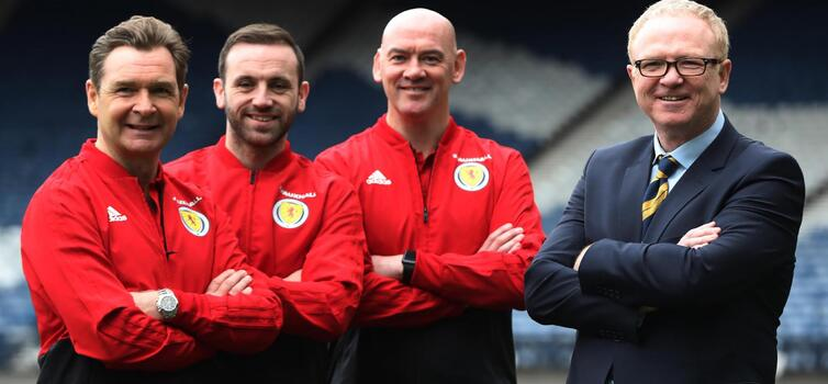 Left to right: Grant, McFadden, Woods and McLeish