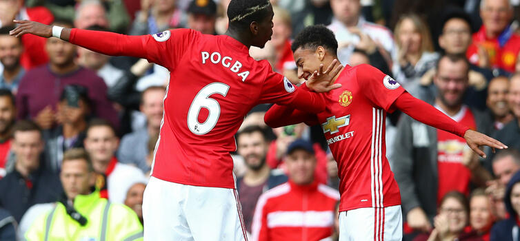 Paul Pogba and Jesse Lingard: More than 5,000 minutes between them