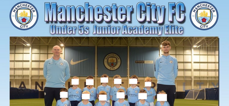 Man City's Under-5s 'elite squad' trains at least three times a week at their Academy