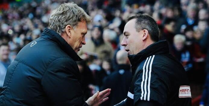 Moyes went head to head with Meulensteen when Fulham visited Old Trafford in February 2014