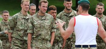 Southgate takes England on Royal Marines boot camp
