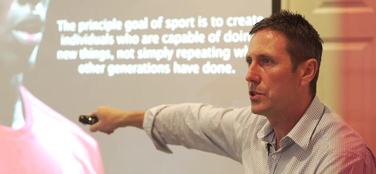 Strudwick: Speaking at TGG's Cohesive Coaching event last June