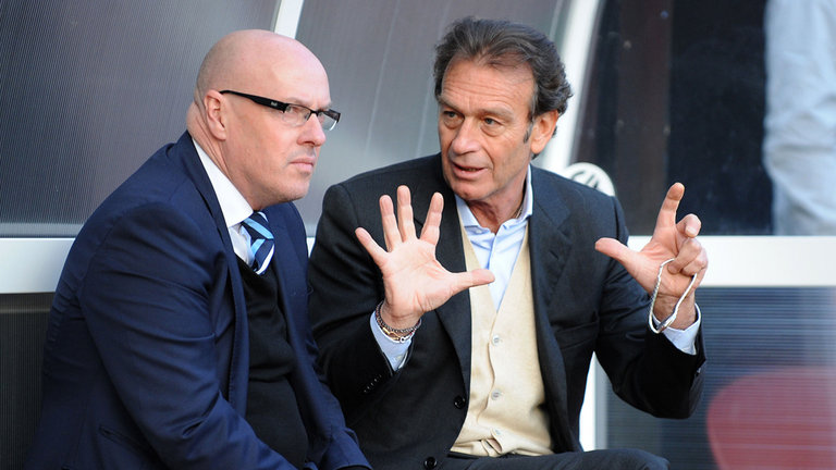 Cellino with Brian McDermott