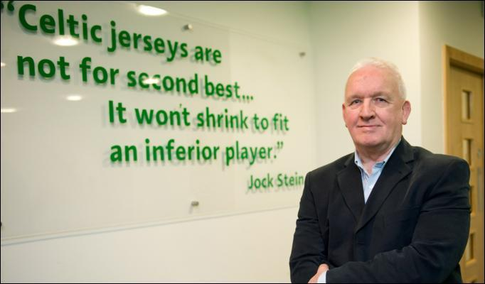 John Clark, one of the Lisbon Lions, alongside Jock Stein's famous quote