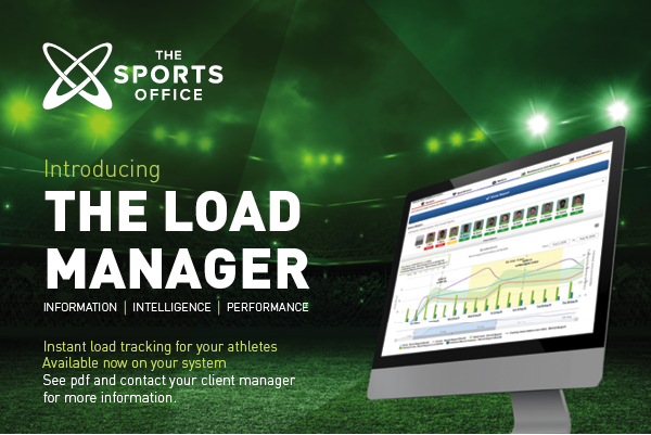 Sports Office now has a load manager function
