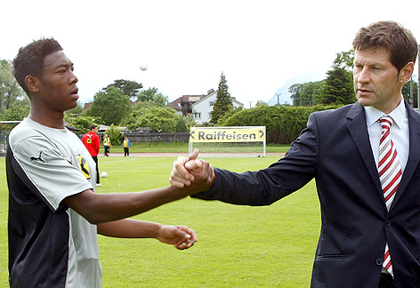 Andreas Heraf with David Alaba