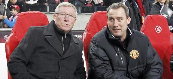 Sir Alex Ferguson and Rene Meulensteen