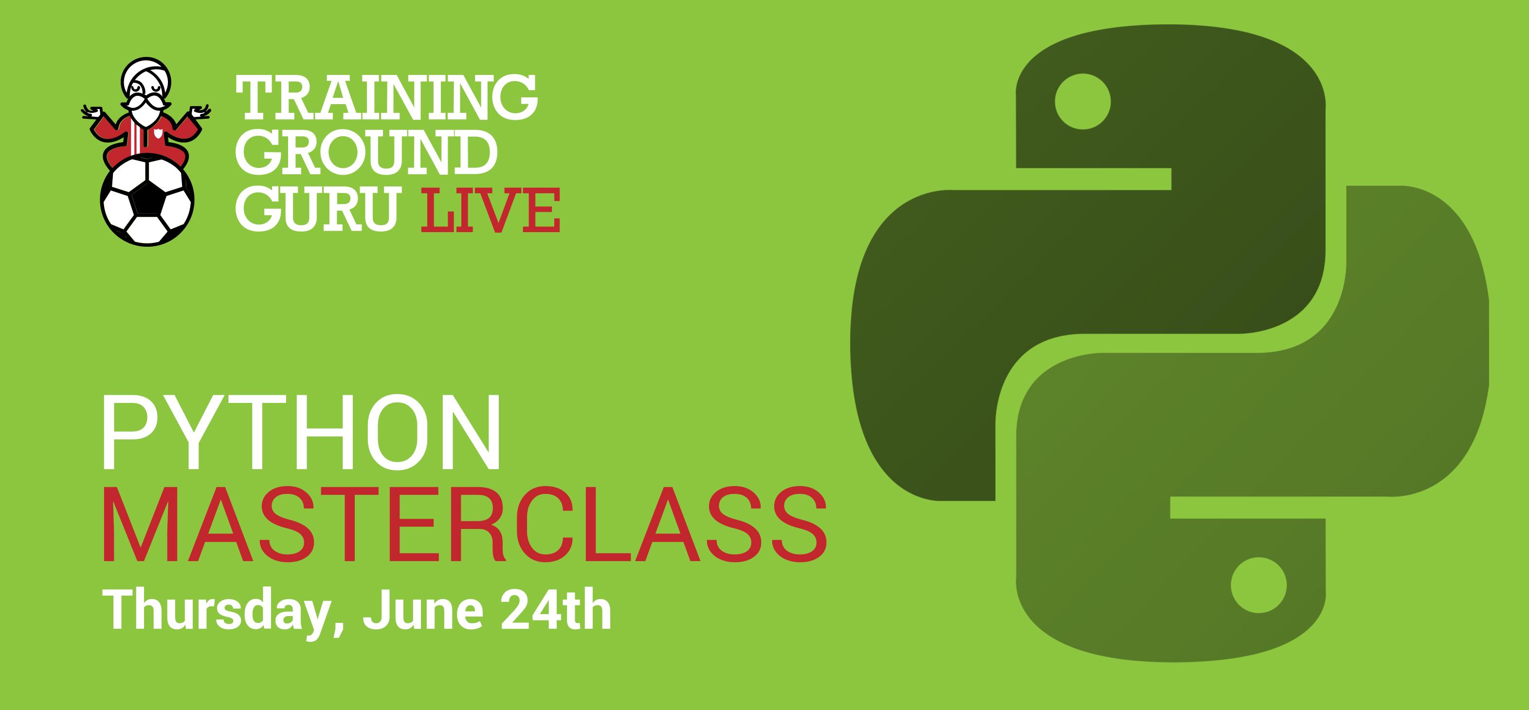 Training Ground Guru | TGG Live: Python Masterclass