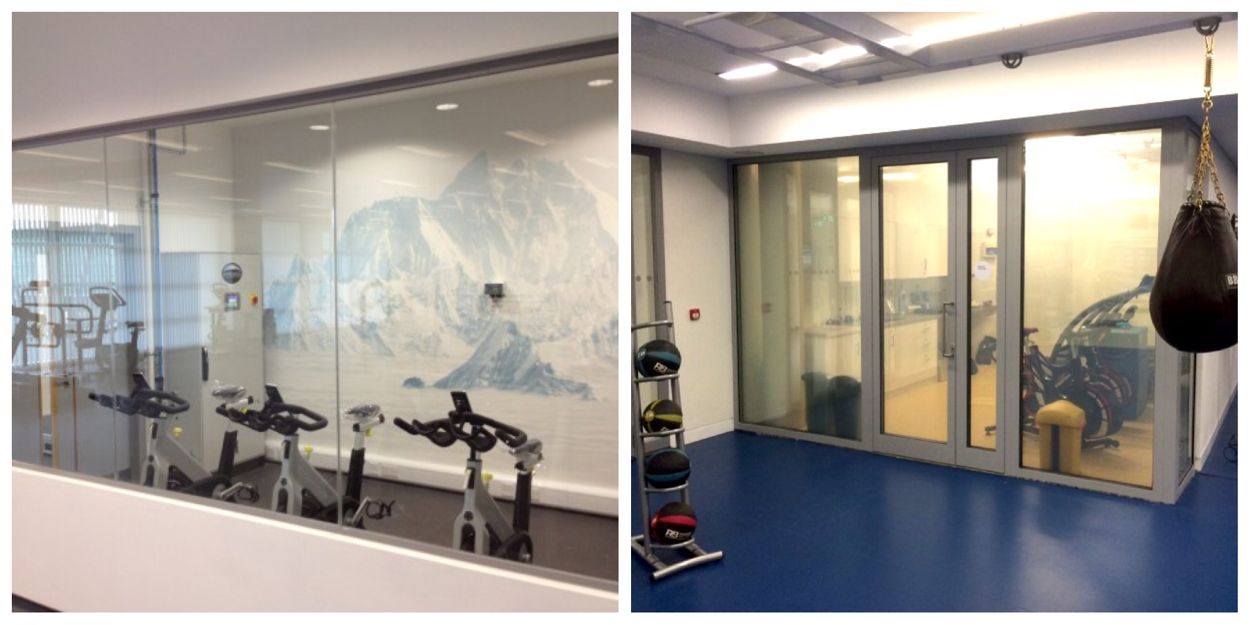 Altitude chambers at St George's Park (left) and Etihad Training Complex (right)