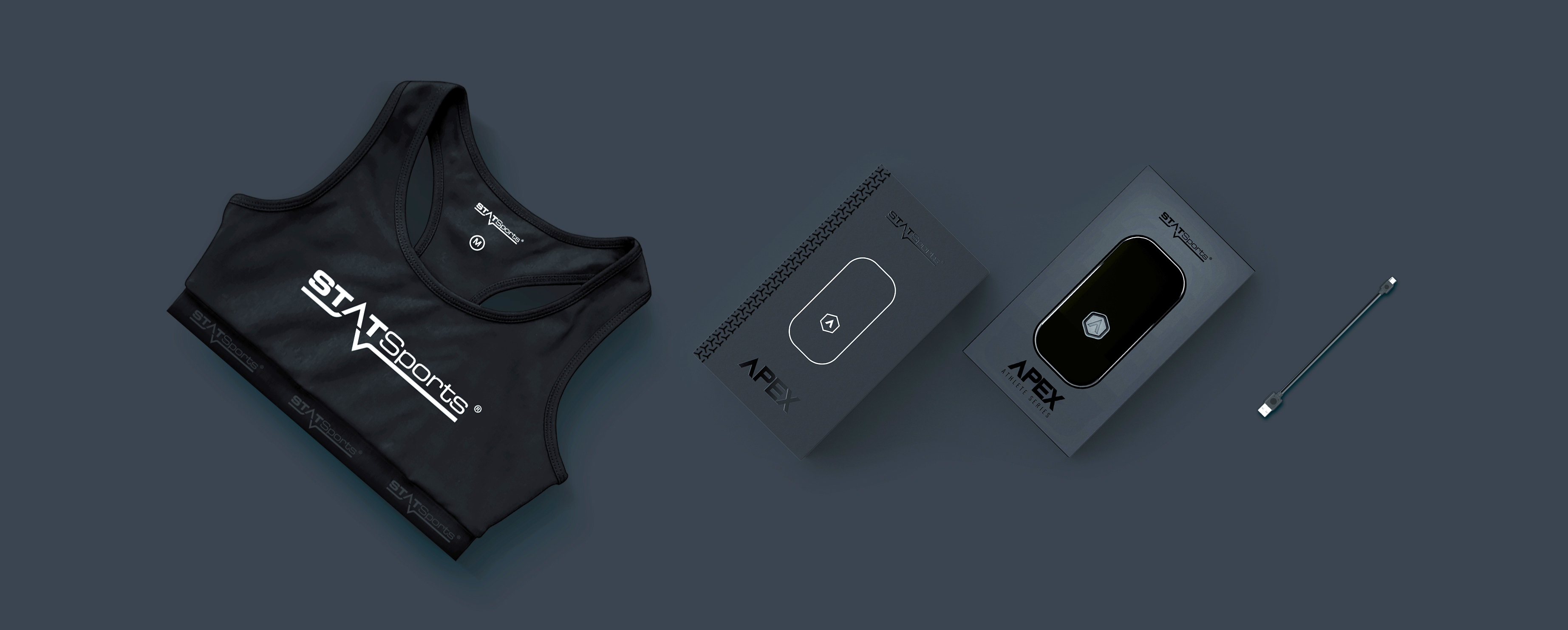 Athlete Series: Vest, boxed Apex pod and USB cable
