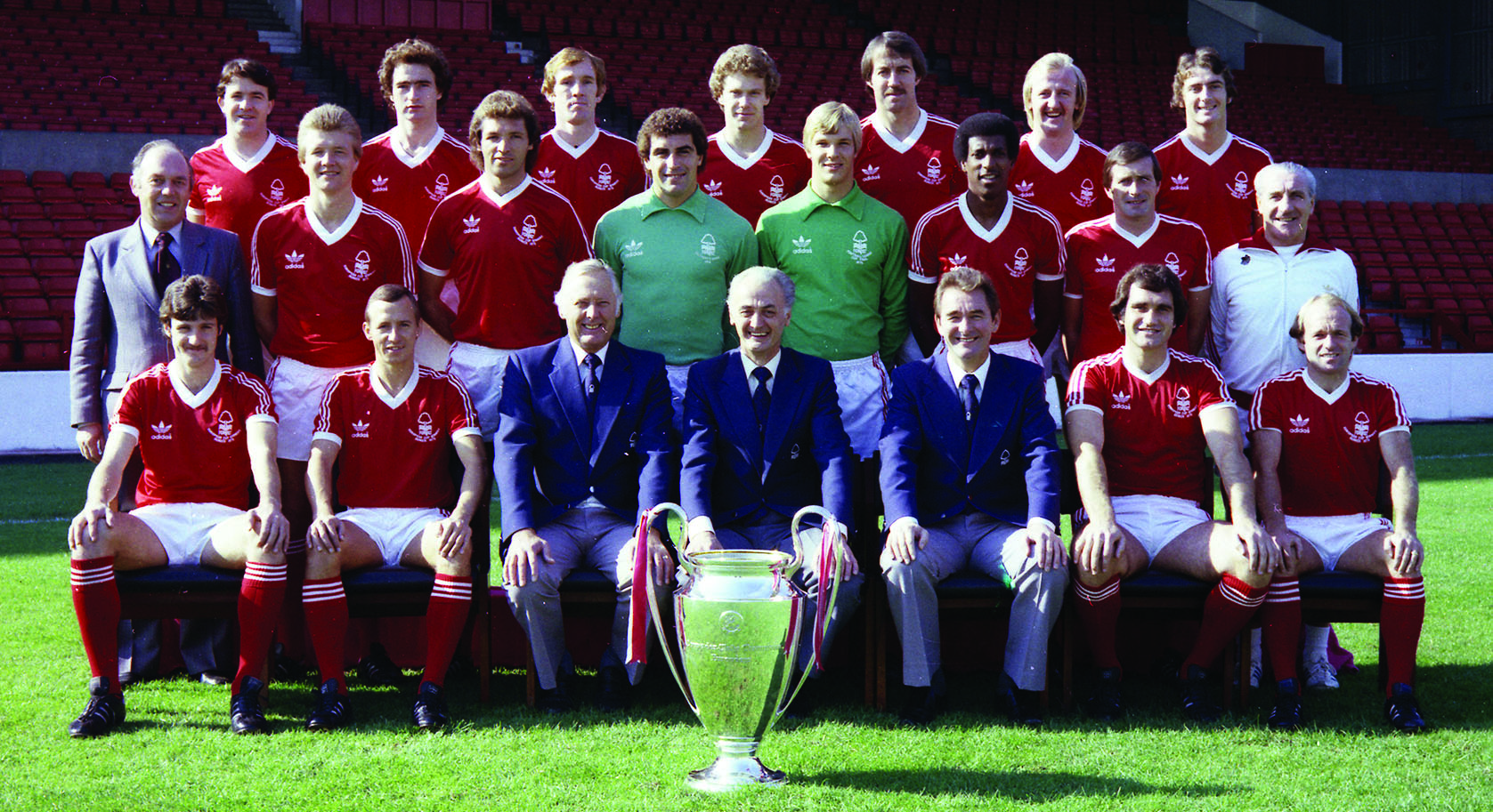 Forest's 1979 European Cup winning side: Ian Bowyer is 3rd left, top row