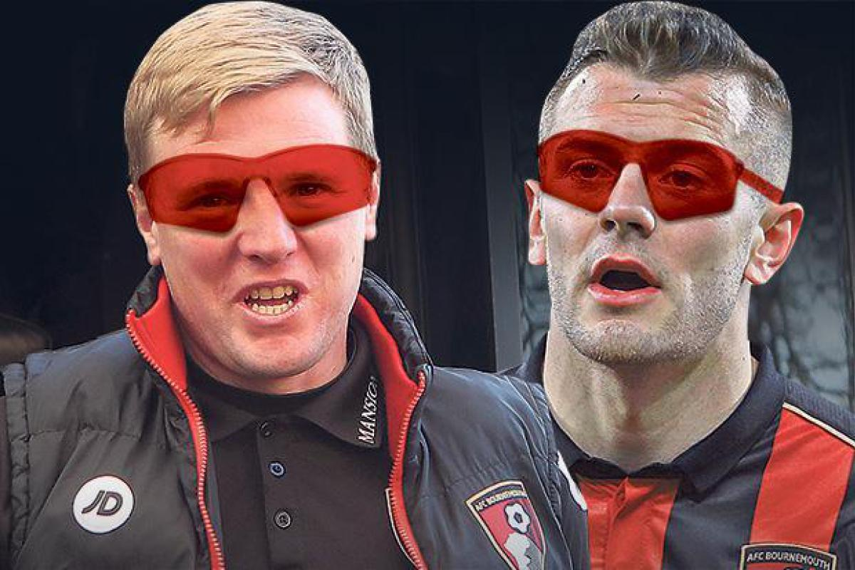 Eddie Howe and Jack Wilshere